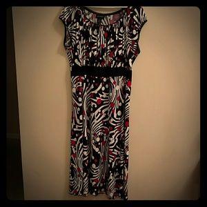 Lane Bryant Black, white and red dress